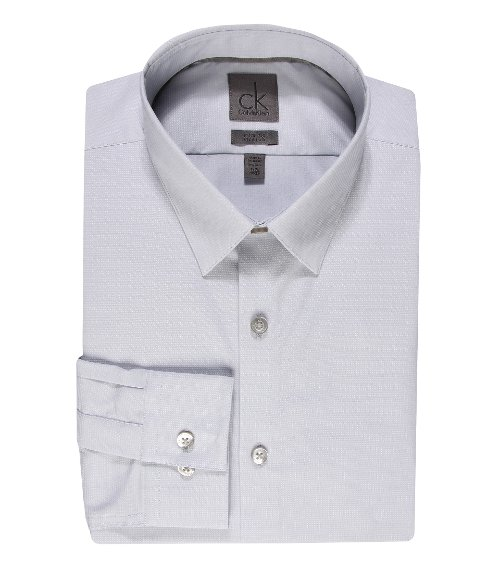 Slim Fit Long Sleeve Dress Shirt by Calvin Klein in Pitch Perfect 2