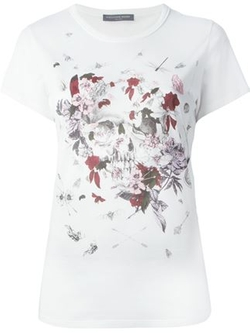 Floral Insect Skull Print T-Shirt by Alexander McQueen in Scream Queens