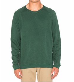 Hemp Raglan Crew Sweater by Mollusk in Bastards