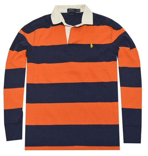 Men's Custom-Fit Striped Rugby Shirt by Polo Ralph Lauren in Scott Pilgrim Vs. The World