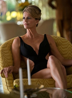 Custom Made Cutout One Piece Swimsuit by Mark Bridges (Costume Designer) in Inherent Vice
