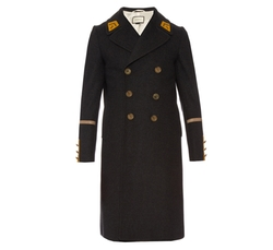 Double-Breasted Wool And Cashmere-Blend Overcoat by Gucci in Atomic Blonde