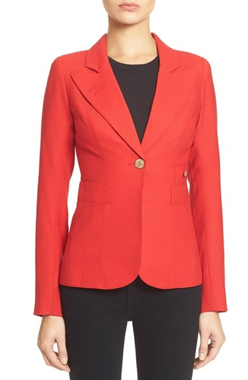 Duchess Single Button Blazer by Smythe in The Good Wife - Season 7 Episode 12