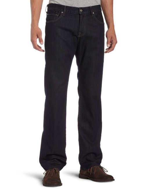 Austyn Relaxed Straight-Leg Jeans by 7 For All Mankind in Get Hard