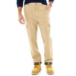 Flannel-Lined Twill Cargo Pants by Stanley in The Big Bang Theory