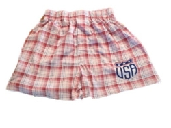 Plaid Cotton Boxer Shorts by So4th in The Overnight