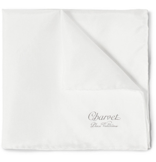 Silk Pocket Square by Charvet in Entourage