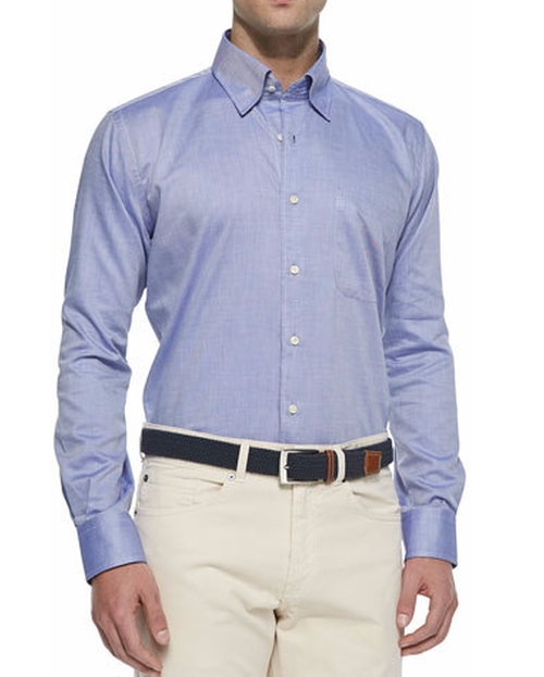 Solid Oxford Dress Shirt by Peter Millar in The Bourne Legacy