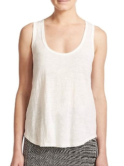 Kylie Linen Slub Tank Top by Joie in Dope