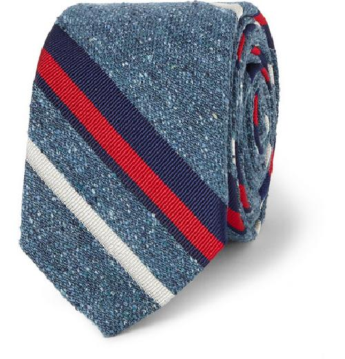 FISHER STRIPED SILK TIE by J.CREW in X-Men: Days of Future Past