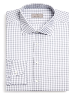 Gingham Check Dress Shirt by Canali in New Girl