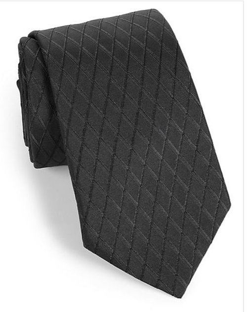 Diamond Jacquard Silk Tie by Armani Collezioni in Sherlock Holmes: A Game of Shadows