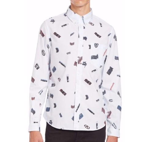 Chidi anagonye 39 s white paul smith jeans printed shirt from for Places that print pictures on shirts