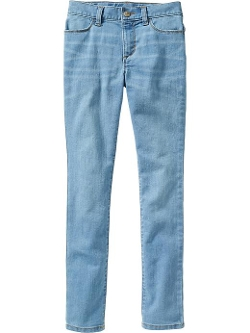 Girls High-Rise Light-Wash Super Skinny Jeans by Old Navy in Boyhood
