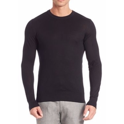 Riland Silk & Cashmere Blend Sweater by Theory in Arrow