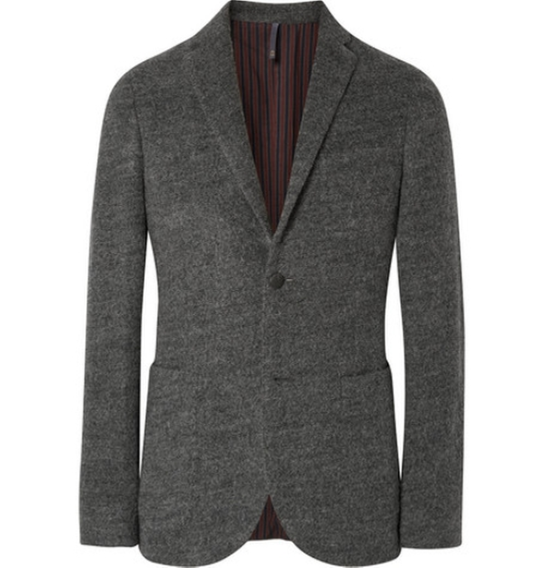 Grey Slim-Fit Felt Blazer by Incotex in Our Brand Is Crisis