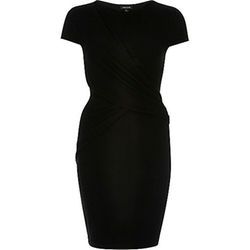 Ruched Wrap Bodycon Dress by River Island in Jessica Jones