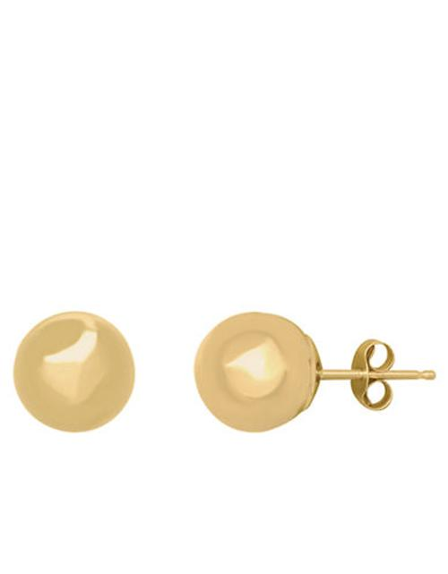 Ball Stud Earrings in 14 Kt. Yellow Gold by Lord & Taylor in Addicted