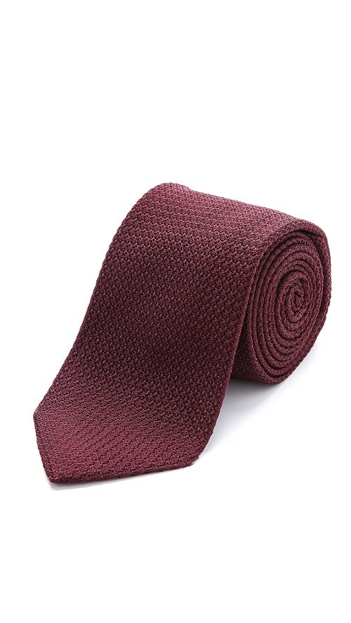 Silk Grenadine Necktie by Drake's in Little Fockers
