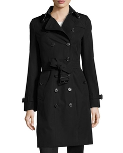 The Sandringham Long Heritage Trench Coat by Burberry London in Elementary