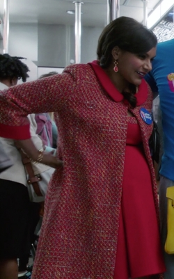 Custom Peter Pan Collar Tweed Overcoat by Salvador Pérez Jr (Costume Designer) in The Mindy Project