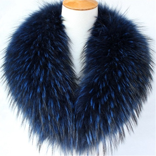 Women's Genuine Raccoon Fur Collar Scarf by Gegefur  in Collateral Beauty