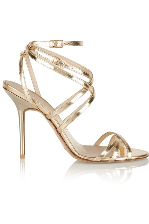 Metallic Leather Sandals by Burberry in Sex and the City