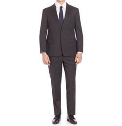 Solid Wool Suit by Armani Collezioni in Empire
