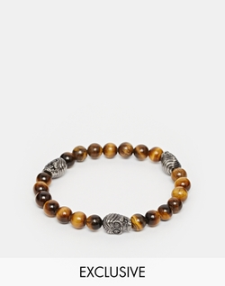 Tigers Eye Beaded Bracelet by Simon Carter in Ballers