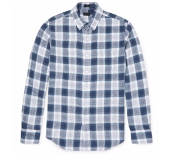 Checked Linen Shirt  by J.Crew  in The Walking Dead