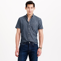 Chambray Short-Sleeve Shirt by J.Crew in Modern Family