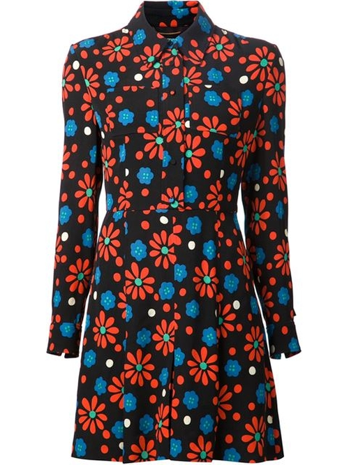 Floral Print Blouse Dress by Saint Laurent in American Horror Story