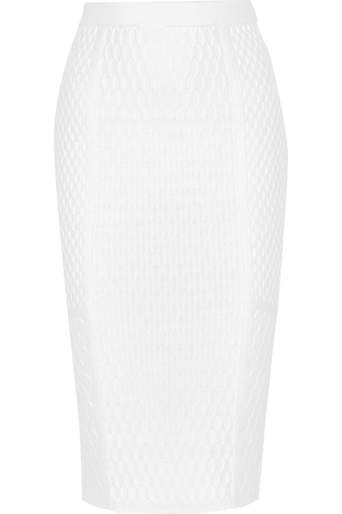 Textured-Knit Pencil Skirt by Jonathan Simkhai in Suits - Season 5 Episode 7