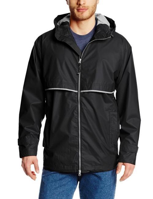 Men's New Englander Waterproof Rain Jacket by Charles River Apparel in Prisoners