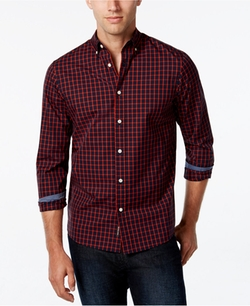 Men's Checked Long-Sleeve Shirt by Michael Kors in Ballers