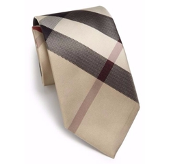 Manston Checked Silk Tie by Burberry in Live By Night
