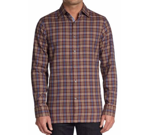 Plaid Cotton Sportshirt by Hickey Freeman in Keeping Up with the Joneses