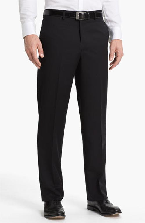 'New Cool Luxe' Super 100s Wool Gabardine Trousers by Linea Naturale in The Wolf of Wall Street