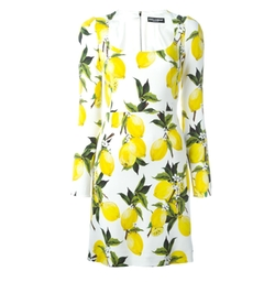 Lemon Print Dress by Dolce & Gabbana in Keeping Up With The Kardashians