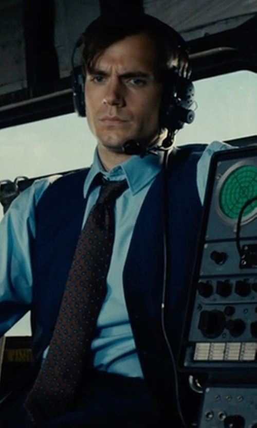 Custom Made Navy Blue Vest by Timothy Everest in The Man from U.N.C.L.E.