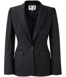 Black Pinstripe Jacket by Austin Reed in Knight and Day