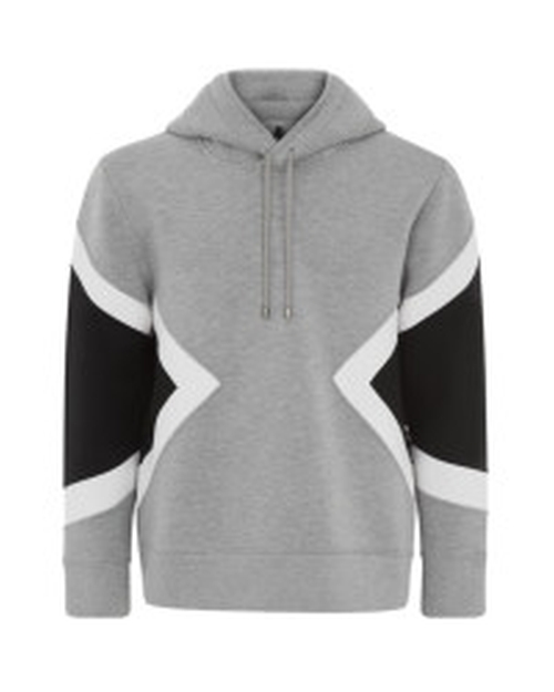 Gray Diamond Neoprene Hoodie Sweater by Neil Barrett in Zoolander 2