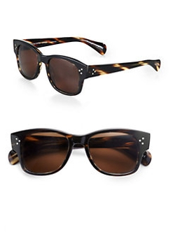 Jannsson Square Acetate Sunglasses in Brown Tortoise by Oliver Peoples in The Gambler