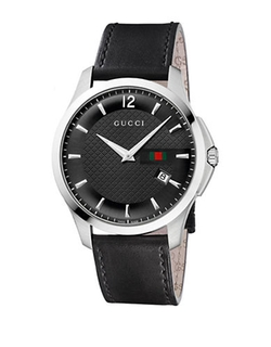 Black Strap Black Dial Watch by Gucci in Demolition