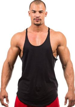 Men's Blank Stringer Y Back Cotton Tank Top by Iwearit in Pain & Gain