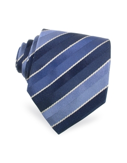Regimental Woven Silk Tie by Moreschi in Ride Along 2