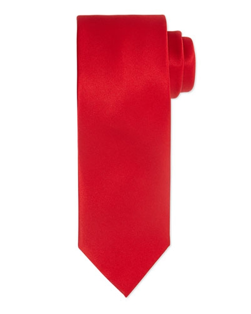 Solid Silk Satin Tie by Brioni in The Hateful Eight