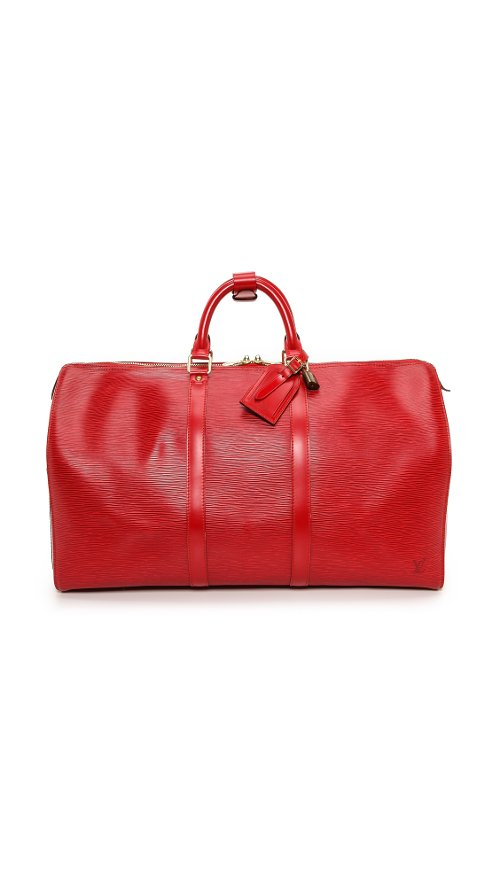 Louis Vuitton Epi Keep All Bag by What Goes Around Comes Around in The Gambler