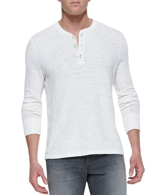 Slub-Knit Basic Henley Shirt by Rag & Bone in Jack Reacher: Never Go Back