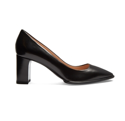 Point-Toe Block-Heel Leather Pumps by Tod's in Billions